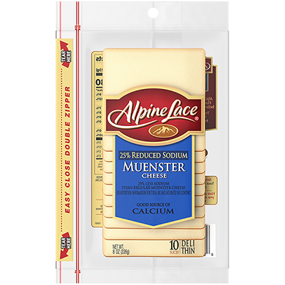 Alpine Lace® Sliced Muenster Cheese