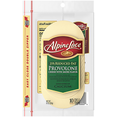 Alpine Lace® Provolone Sliced Cheese with Smoke Flavor