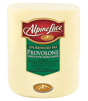 25% Reduced Fat Provolone with Smoke Flavor Cheese