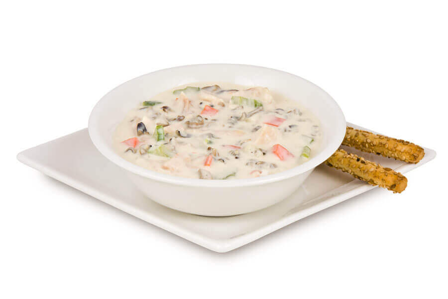 Chicken and Wild Rice Soup with Alfredo Sauce