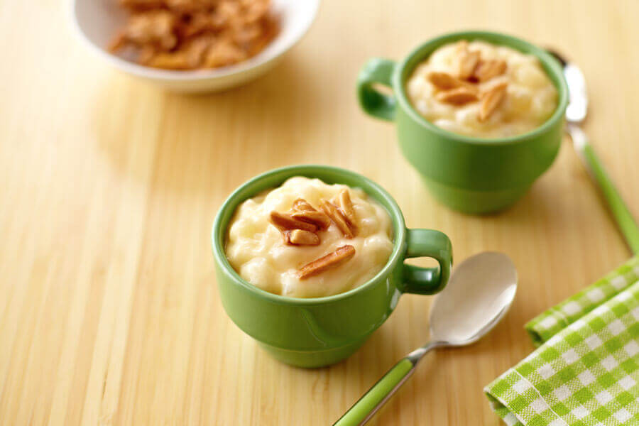 Tapioca Pudding With Candied Almonds