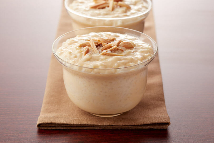 Salted Caramel Rice Pudding With Toasted Almonds