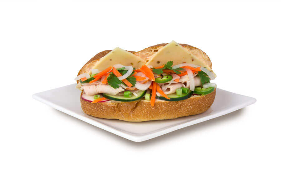 Turkey and Pepper Jack Banh Mi