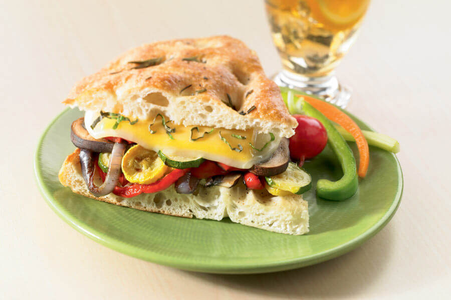Roasted Vegetable Sandwich with Alpine Lace RF Swiss