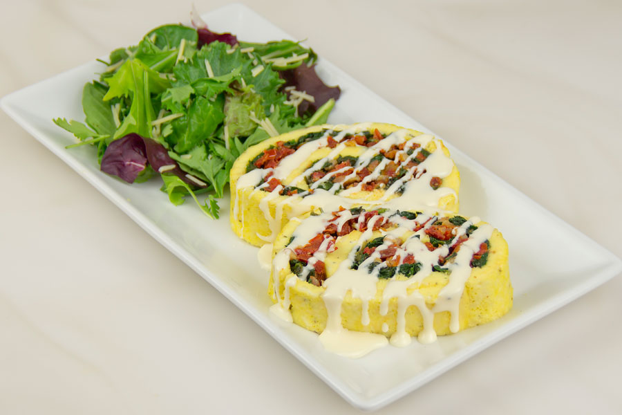 Spinach Roulade with Parmesan Sauce Recipe