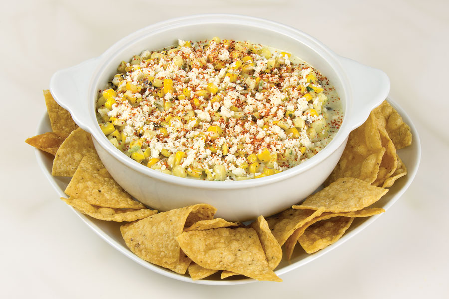 Fire Roasted Sweet Corn Dip with Queso Bravo recipe