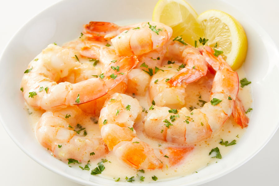 Shrimp Scampi with Extra Melt Cheese Sauce and Butter with Canola Oil recipe