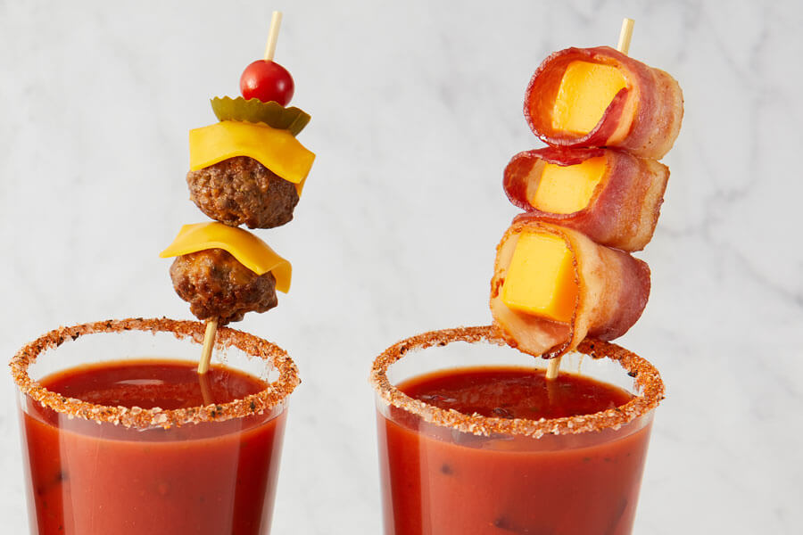 Bacon-Wrapped Extra Melt Bloody Mary Garnish recipe