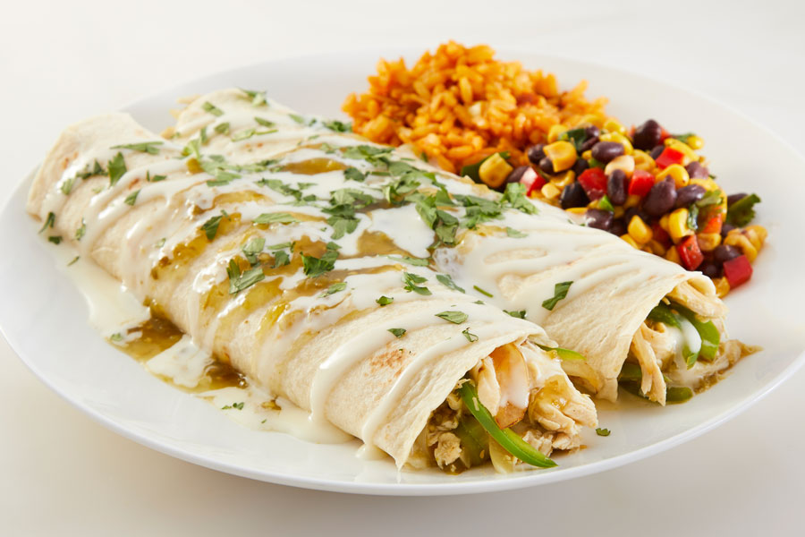 Chicken Burrito Suiza recipe