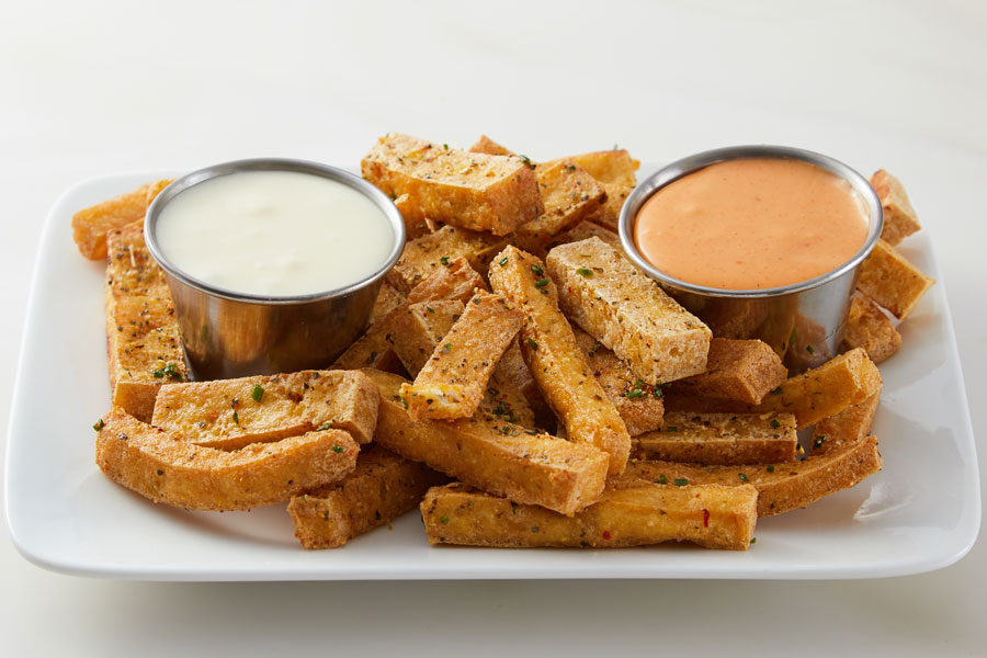 Crispy Tofu with Two Dipping Sauces recipe