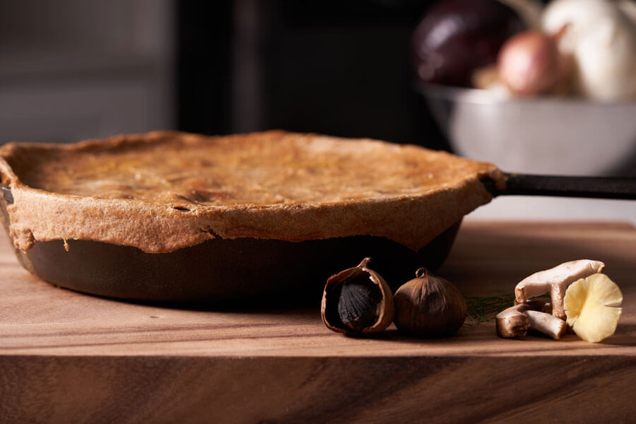 Black Garlic and Wild Mushroom Pot Pie recipe