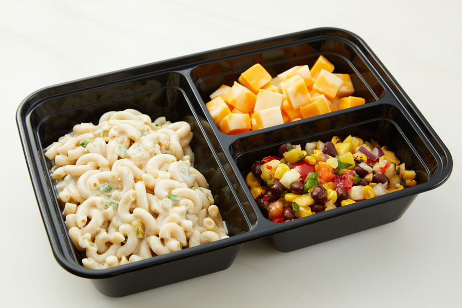 Chilled Pasta Salad with Three Ingredient Queso