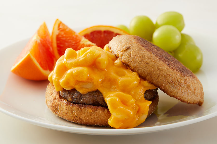 Macaroni and Cheese Breakfast Sandwiches recipe