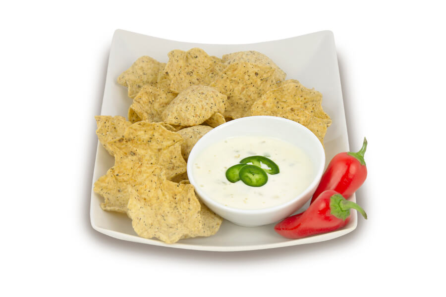 Three Ingredient White Queso with Green Chiles