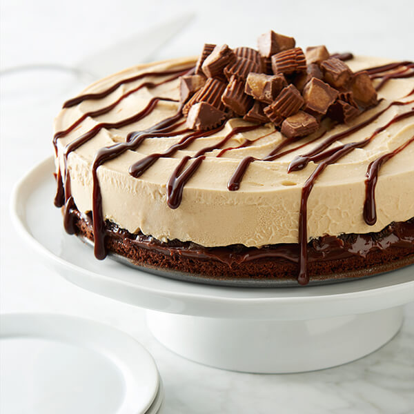 Peanut Butter Chocolate Ice Cream Cake Image