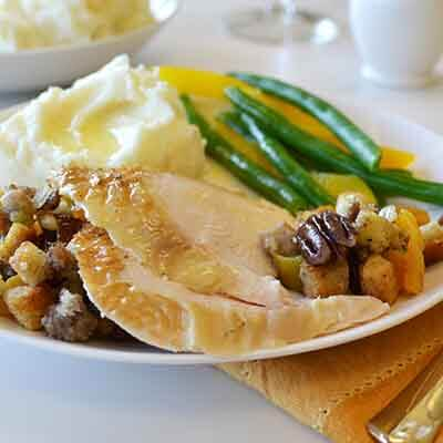 turkey breast with sausage apricot stuffing