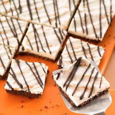 Orange Buttercream Squares Image