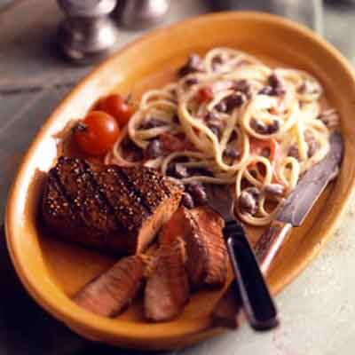 Grilled Steak With Tex-Mex Pasta Image