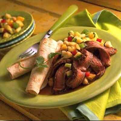 Glazed Beef With Pineapple Salsa Image
