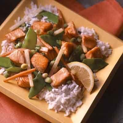 Salmon & Vegetable Stir-Fry Image