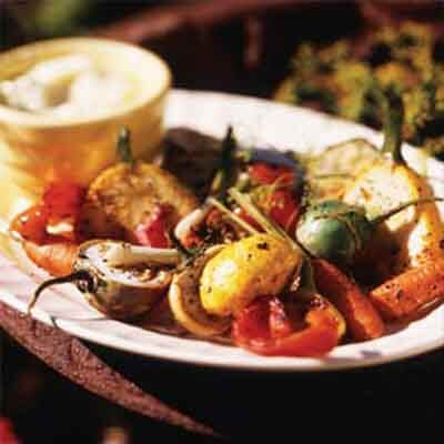 Grilled Vegetables With Dill Mayonnaise Image