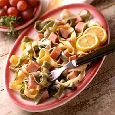 Tri-Color Tarragon Fettuccine Image
