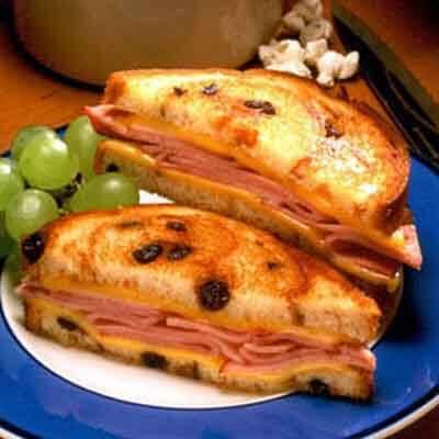 Grilled Cheese 'N Ham On Raisin Image