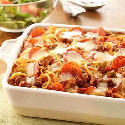 Pizza Spaghetti Casserole Image