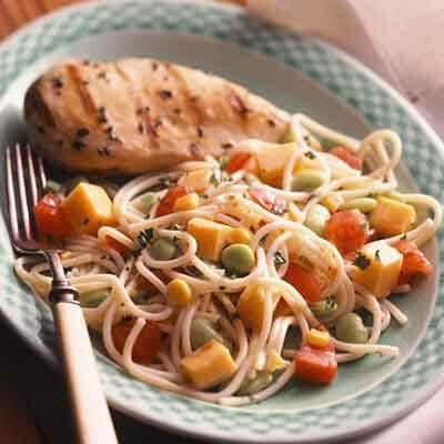 Spaghetti & Vegetable Toss Image
