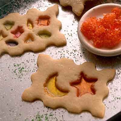 Candy Window Cut-Out Christmas Cookies Recipe