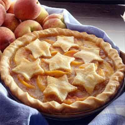Peach Pie With Cut-Out Pastry Image