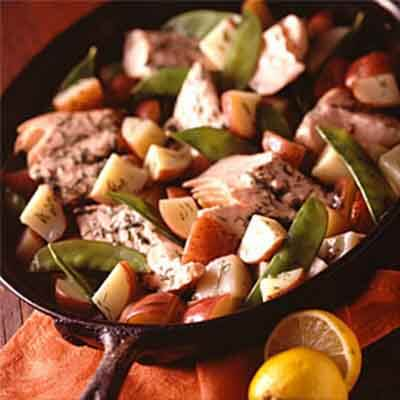 Lemon-Dill Salmon With Red Potatoes Image