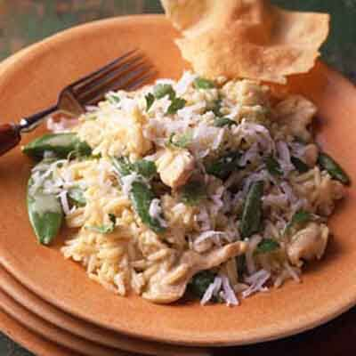Turkey with Coconut Curried Rice