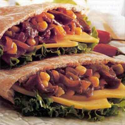 Tangy Barbecue Pitas Image