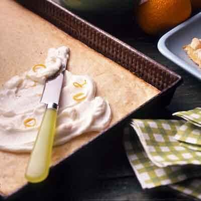 Orange Sour Cream Bars Image