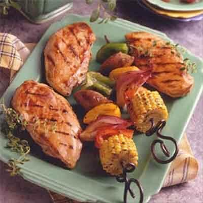 Turkey Sausage Veggie Kabobs Image