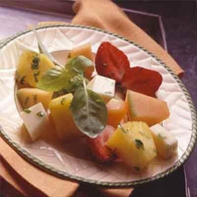 Fruit & Cheese Salad With Orange-Basil Vinaigrette Image