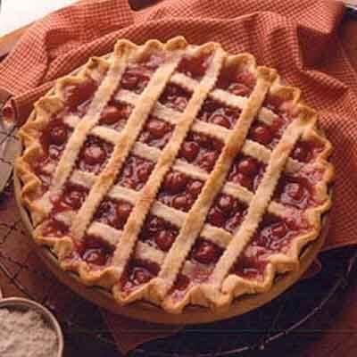 Lattice-Topped Cherry Pie Image