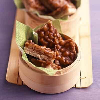 Caramel Praline Walnut Bars Image