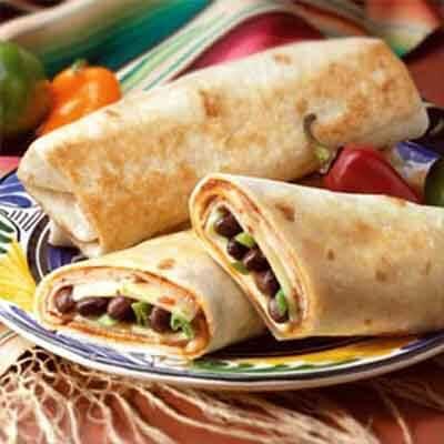 Mexican Bean & Turkey Burrito Image