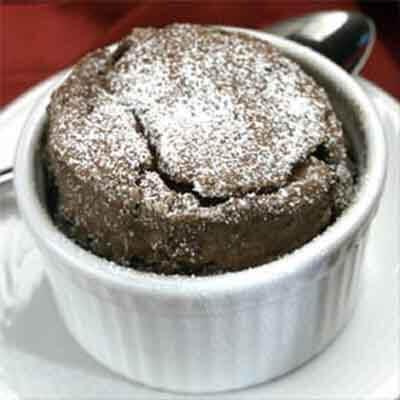 Individual Chocolate Espresso Soufflès Image