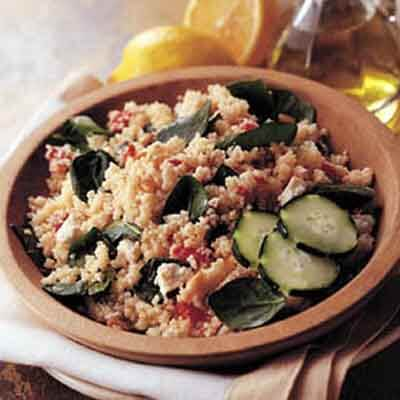 Mediterranean Couscous Salad With Pine Nuts Image