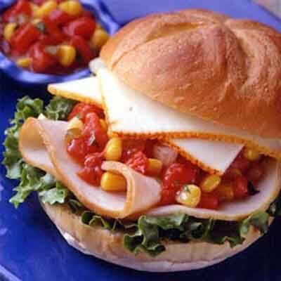 Turkey Corn Salsa Sandwich Image