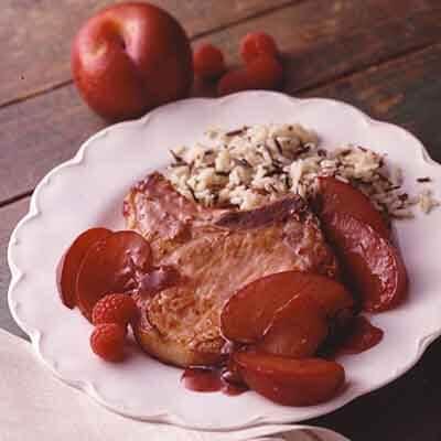 Raspberry Plum Pork Chop Recipe