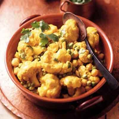 indian spiced vegetables in sour cream