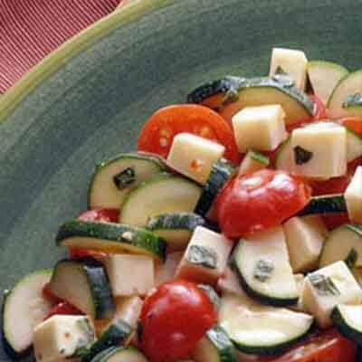 Zucchini & Tomatoes With Cheese Image