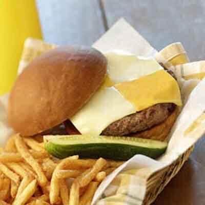 Checkerboard Hamburgers Image
