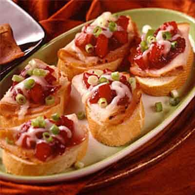Bruschetta With Pork & Cranberry Chutney Image