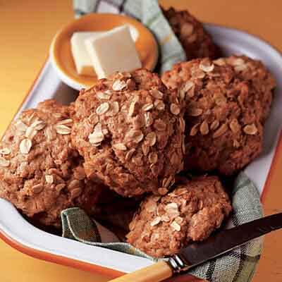 Whole Wheat Oatmeal Drop Biscuits Image