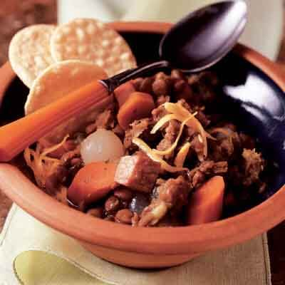 Ham, Vegetable & Lentil Stew Image